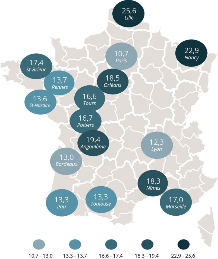 Carte Obésité-Nom villes