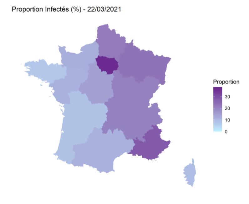 Carte France infectés